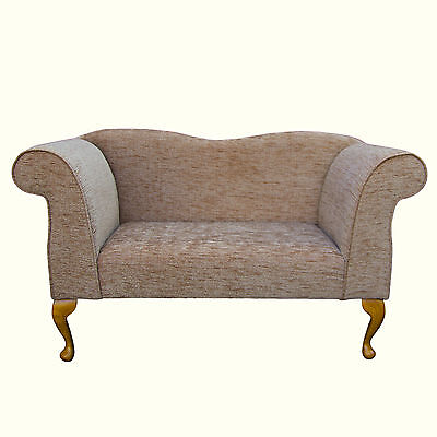 49  Small Double Ended Chaise Longue Lounge Sofa Seat Blush Fabric UK • 319£