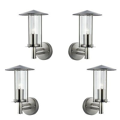 Modern Outside Chrome House Decorative Home Security Wall Lantern Light Fitting  • 22.65£