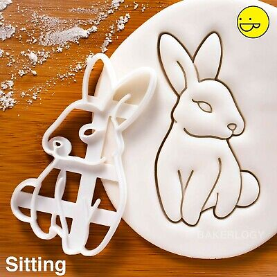 Bunny Cookie Cutter | Rabbit Rabbits Bunnies Hare Easter Day Egg Hunt Biscuit • 9.21£