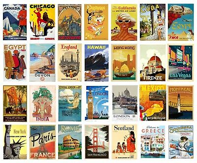 VINTAGE TRAVEL Railway POSTERS A4 A3 Retro Prints BUY 1 GET 2 FREE 70+OPTIONS • 9£