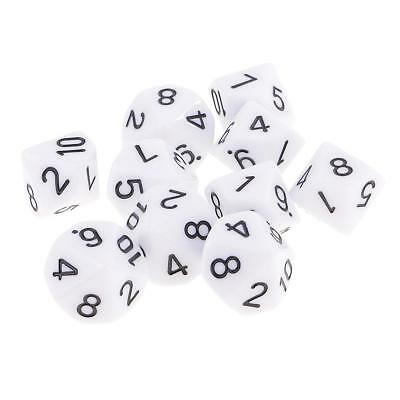 AU9.09 • Buy 10X 10 Sided Dice D10 Polyhedral Dice For  Dice White