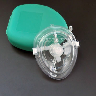 Green CPR Pocket Face Shield Resuscitator Rescue  Latex CPR Face Shield • 3.99£