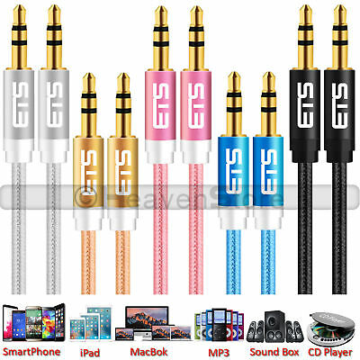 £2.35 • Buy 3.5mm Jack Male To Male Plug Aux Cable Audio Lead For Headphone/MP3/iPod/Car UK