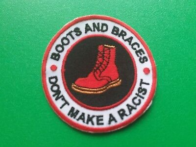 £3.29 • Buy MOD SCOOTER SKA NORTHERN SOUL SEW / IRON ON PATCH:- BOOTS & BRACES (a)