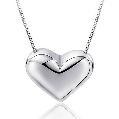 £3.97 • Buy Heart Charm Pendant Chain Necklace 925 Sterling Silver Women Girl Jewellery Gift