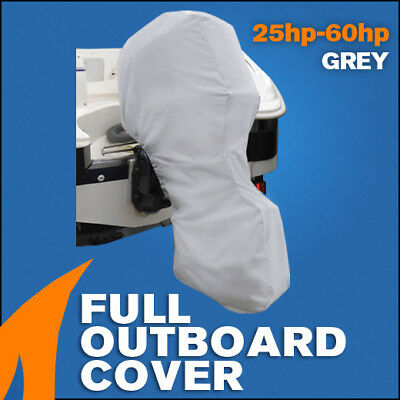 AU51.95 • Buy Full Outboard Boat Motor Engine Cover Dust Rain Protection Grey - 25hp - 60hp