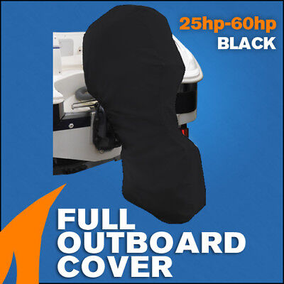 AU45.95 • Buy Full Outboard Boat Motor Engine Cover Dust Rain Protection Black - 25hp - 60hp