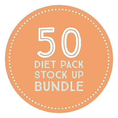 £63 • Buy KeeDiet® Meal Replacement VLCD - CHOOSE FLAVOURS - 50 Diet Shakes Soups Meals
