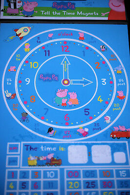 £4.95 • Buy Peppa Pig Early Learning Tell The Time Magnets & Clock