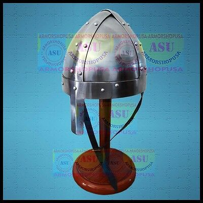 £39 • Buy Medieval-Armour-Norman-Nasal-Viking-Helmet-Reenactment-Role-Play-Free Stand