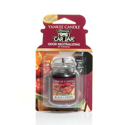 Yankee Candle Car Jar Air Freshener Freshner Fragrance Scent - BLACK CHERRY • 5.99£