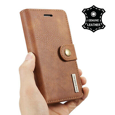 AU23.74 • Buy Luxury Genuine REAL Leather Flip Stand RFID Wallet Case For IPhone 12 11 Xs 8 7