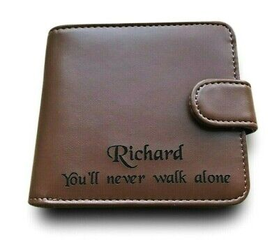 Personalised Leather Wallet Credit Card Holder Liverpool FC Football Fans Gift • 9.99£
