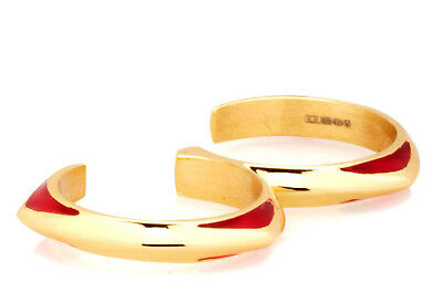 $ CDN37.96 • Buy Katie Rowland Lilith Knuckleduster Double Ring 18K Gold Plated Sterling Silver S