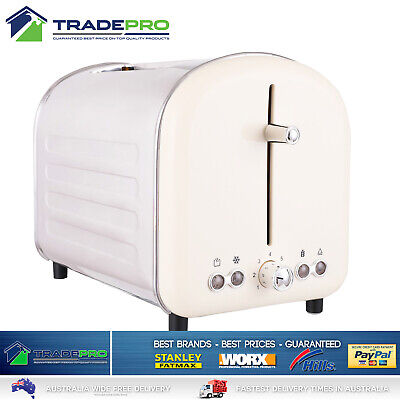 AU59.50 • Buy Electric Toaster Retro Stainless Steel 2 Slice Toast White 6 Setting High Lift