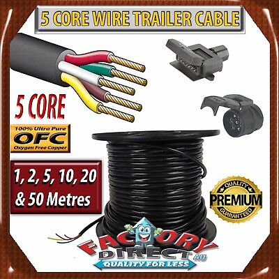 AU5.95 • Buy 5 Core Wire Trailer Cable Power Cable Automotive Boat Caravan Truck Coil V90 PVC