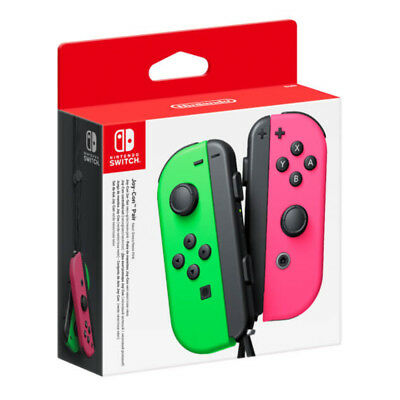 AU106.95 • Buy Nintendo Switch Joy-Con Neon Green & Pink Controller Set NEW