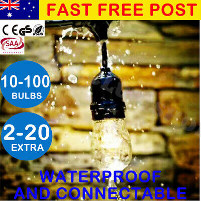AU37.90 • Buy 10-100PCS Festoon String Lights Wedding Party Christmas Vintage Retro In/Outdoor