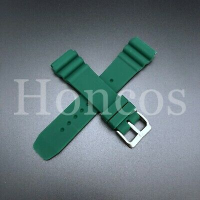 $ CDN11.77 • Buy 22 MM Green Silicone Rubber Watch Band Strap Fits Seiko Diver 2020 Model SKX