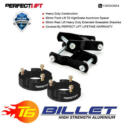 AU319.96 • Buy Fits Mitsubishi Triton MN-ML LIFT KIT 50mm F & 50mm R Greaseable Shackles