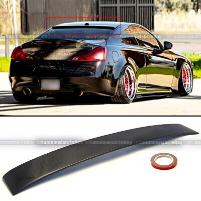 $104.99 • Buy For 08-16 G37 Coupe 2dr Custom Made Real Carbon Fiber Rear Roof Wing Spoiler
