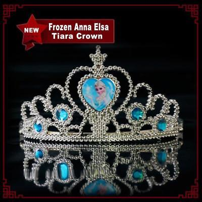 Kids Girls Children Disney Frozen Anna Elsa Tiara Crown Party Fancy Costumes • 3.98£