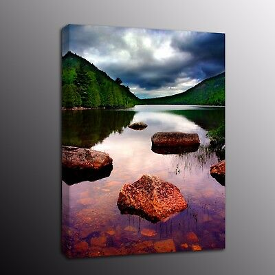 AU86 • Buy Landscape Canvas Art Prints Painting Picture Wall Art Lake Green Trees