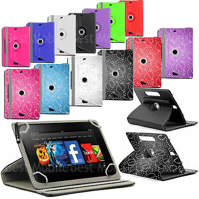 £4.99 • Buy For 9.7  10  10.1  Tablet PC New Universal Folio Leather Case Cover 360 Rotation