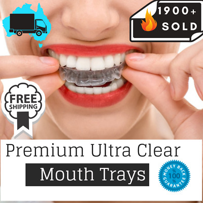 AU6.95 • Buy  Teeth Whitening Mouth Trays Custom Self Mould Thermo Plastic Ultra Clear Guards