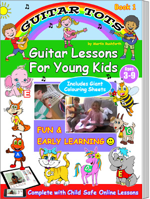 Guitar Tots Book 1 - Book & Online Video Lessons For Children Aged 3 - 9 Years • 9.99£