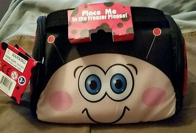 NEW As Seen On TV Snack Pets Freezable Fun Lunch Box Cherry The Ladybug • 7.01£