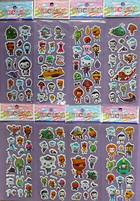 OCTONAUTS PUFFY STICKER SHEETS Childrens Party Bag Filler Choose Quantity  • 2.99£