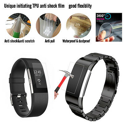 AU7.19 • Buy Great Ultra Clear HD TPU Screen Protector Film For Fitbit Charge 2 Smart Watch