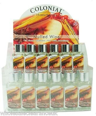 Wholesale Joblot Of 24 Colonial Mulled Wine Scented 9ml Refresher Oils Y0081. • 14.69£