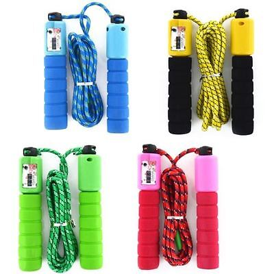 £7.99 • Buy 2 X New Children Kids Skipping Rope With Counter Jump Fitness Exercise Handle