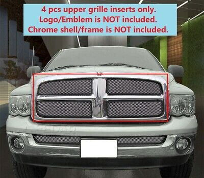 $125.18 • Buy Main Upper Wire Mesh Grille Grill INSERTS For 2002 2003 2004 2005 Dodge Ram