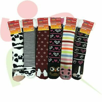 £5.99 • Buy Women's Fur Lined Animal Printed Novelty Cosy Thermal Chunky Thick Outdoor Socks