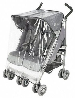 $29.99 • Buy NEW Rain Plastic For Maclaren Twin Triumph And Twin Techno Strollers OLD MODEL