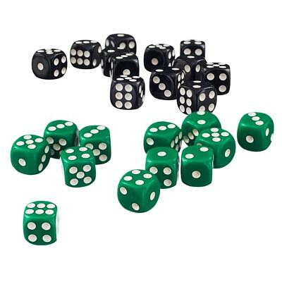 AU14.05 • Buy 100x Six Sided Spot Dice D6 For Adult Party Pub Bar Games Casino Equipment