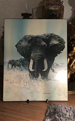 $ CDN105.85 • Buy Signed Elephants Print By Phil Prentice
