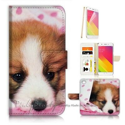 AU12.99 • Buy ( For Oppo A57 ) Wallet Case Cover P21081 Cute Puppy Dog