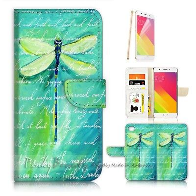 AU12.99 • Buy ( For Oppo A57 ) Wallet Case Cover P21093 Dragonfly