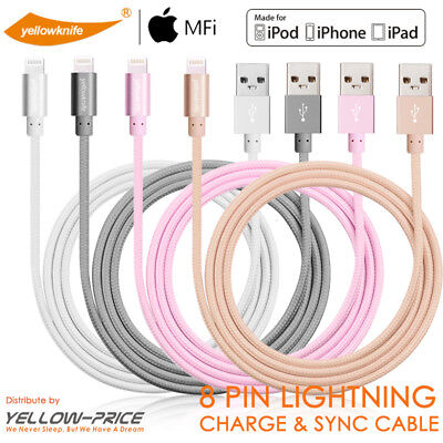 AU16.14 • Buy MFi Heavy Duty Metal Braided Lightning USB Charger Cable IPhone X 8 7 6/iPad Air