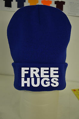 Free Hugs Beanie Lots Of Colours - Cotton Custom Hat Gift Ymcmb Cocaine Caviar • 7.99£