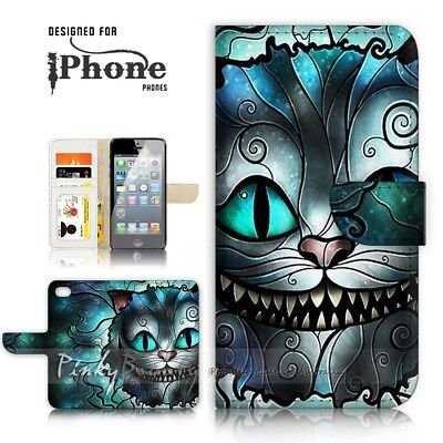 AU12.99 • Buy ( For IPhone 7 Plus ) Wallet Case Cover P21023 Cheshire Cat