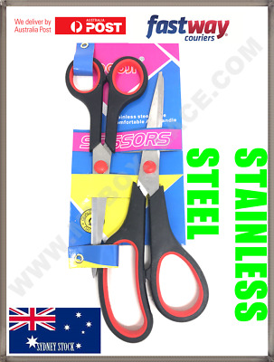 £2.72 • Buy High Quality Stainless Steel Scissors Easy Grip School Office Home Stationery