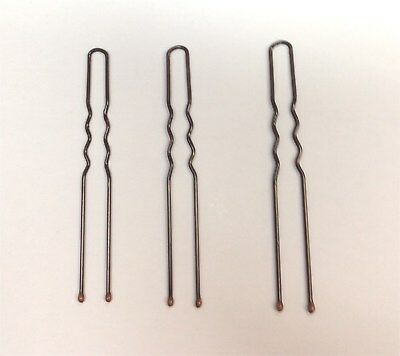 AU2.99 • Buy Pack Of 20, U Shape Hair Pin, Slide. Ripple Bobby Pin, Brown And Black Colour