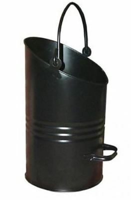 Sale - 16  Black Coal Bucket, Scuttle, Hod With Folding Handle At Top And Side  • 13.99£