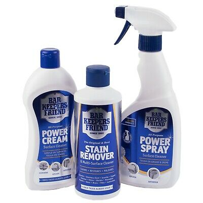 £4.99 • Buy Bar Keepers Friend Stain Remover Cream Cleaner Power Spray Cleaning Products