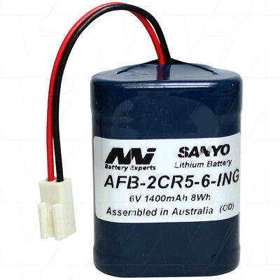 AU38.99 • Buy AFB-2CR5-6-ING 6V 1.4Ah Lithium Battery For Lavatory Auto Flush Sensors
